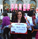 Me at One Billion Rising. This is why I rise.