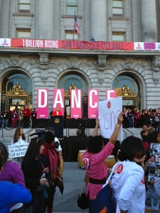 One Billion Rising in front of San Francisco's City Hall